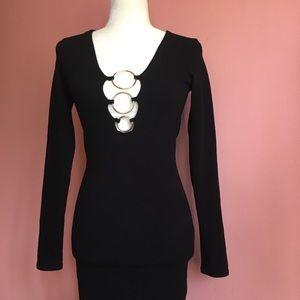 Ring Detail Mini Dress